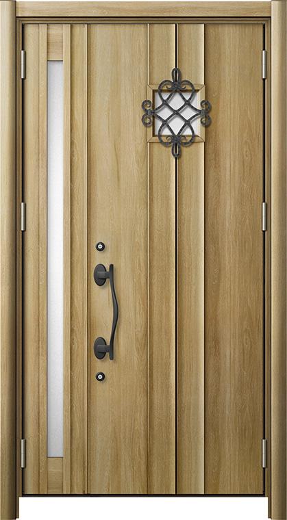 リシェントD77型 木目調  親子ドア ランマ無し 断熱仕様