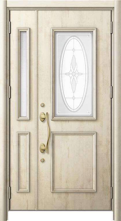リシェントC15型 木目調  親子ドア ランマ無し 断熱仕様