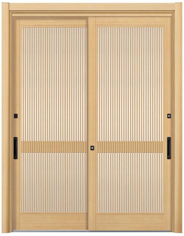 リシェント12型 木目調 玄関引戸 2枚建 ランマ無し 1,195〜1,692 NO.4