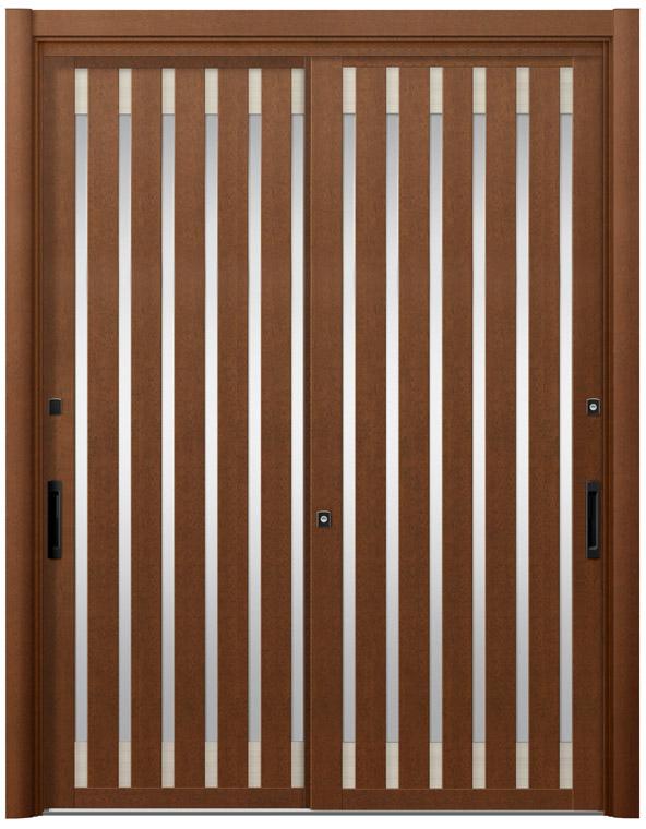 リシェント15型 木目調 玄関引戸 2枚建 ランマ無し 1,195〜1,692 NO.8