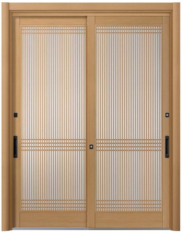 リシェント20型 木目調 玄関引戸 2枚建 ランマ無し 1,195〜1,692 NO.13