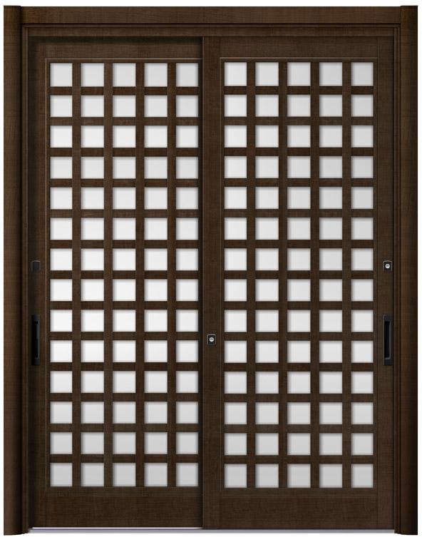 リシェント25型 木目調 玄関引戸 2枚建 ランマ無し 1,195〜1,692 NO.17