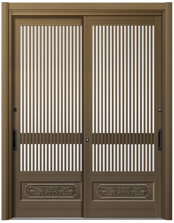 リシェント26型 アルミ色 玄関引戸 2枚建 ランマ無し 1,195〜1,692 NO.32