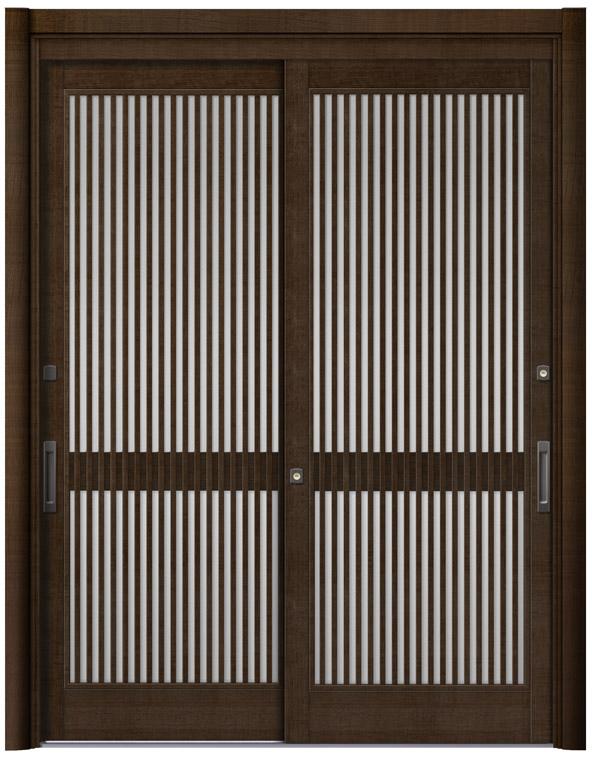 リシェント51型 木目調 玄関引戸 2枚建 ランマ無し 1,195〜1,692 NO.24