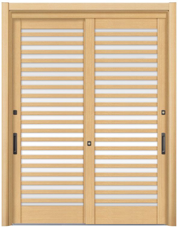 リシェント53型 木目調 玄関引戸 2枚建 ランマ無し 1,195〜1,692 NO.26