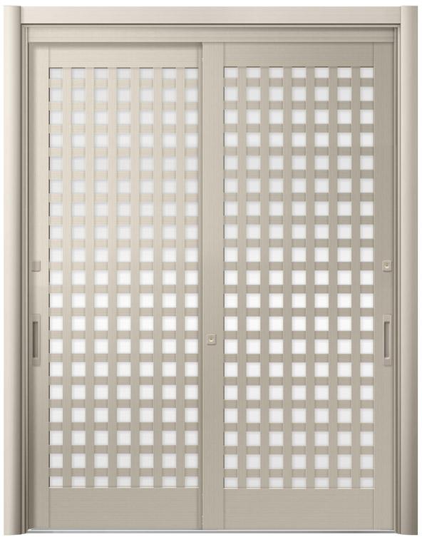 リシェント54型 アルミ色 玄関引戸 2枚建 ランマ無し 1,195〜1,692 NO.19