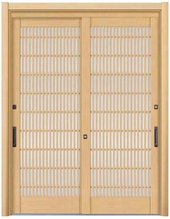 リシェント56型 木目調 玄関引戸 2枚建 ランマ無し 1,195〜1,692 NO.27