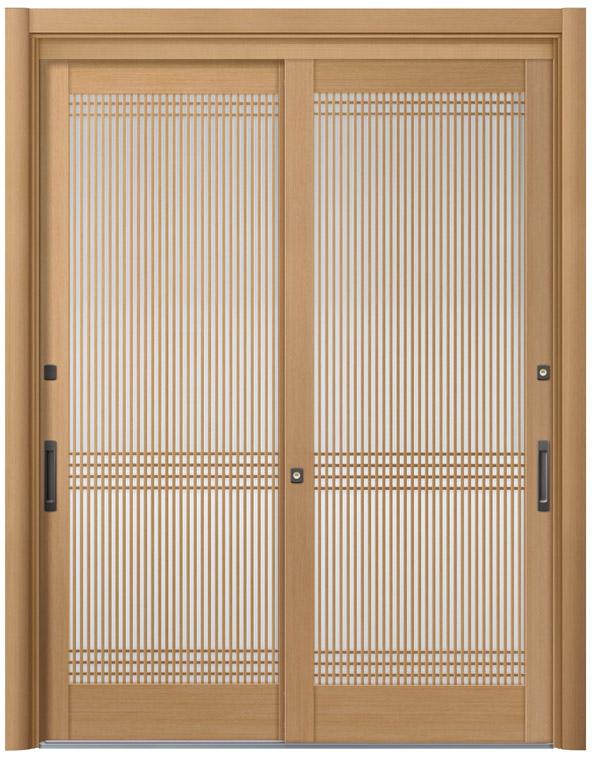 リシェント57型 木目調 玄関引戸 2枚建 ランマ無し 1,195〜1,692 NO.28