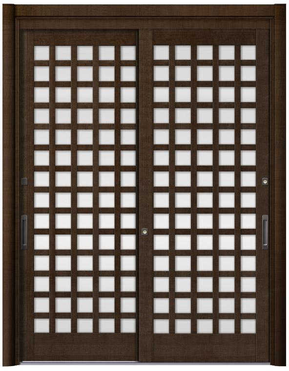 リシェント59型 木目調 玄関引戸 2枚建 ランマ無し 1,195〜1,692 NO.30