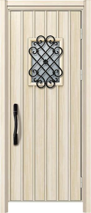 かんたんドアリモ 玄関ドア 断熱タイプ W16V ランマ無 片開き 外額縁77 AR ピタットKey 洋風カーブ Aタイプ NO.1216