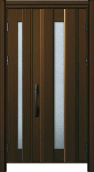 かんたんドアリモ玄関ドア アルミタイプ S01P ランマ無 親子 外額縁77 B1 ピタットKey ストレート ブラック Cタイプ NO.1114