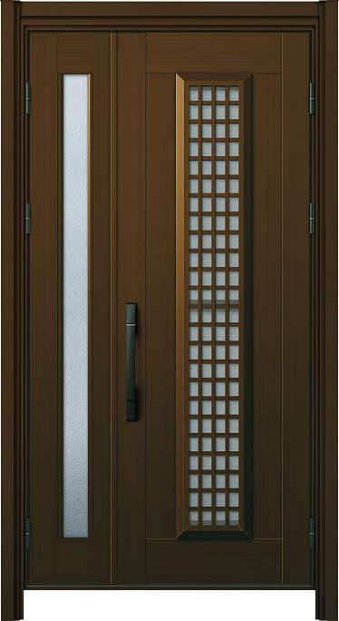 かんたんドアリモ玄関ドア アルミタイプ S12P ランマ無 親子 外額縁77 B1 ピタットKey ストレート ブラック Cタイプ NO.1121
