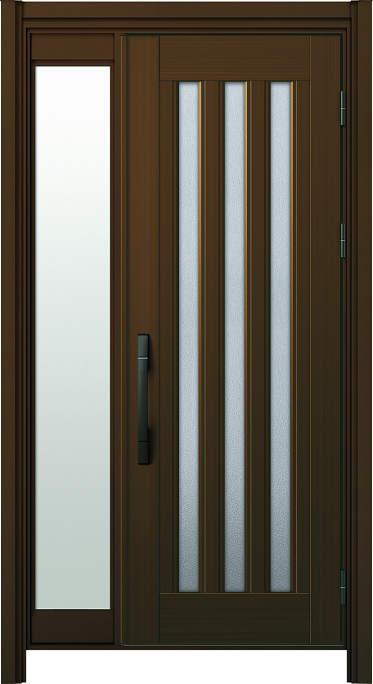 かんたんドアリモ玄関ドア アルミタイプ S05P ランマ無 片袖FIX 外額縁77 B1 ピタットKey ストレート ブラック Cタイプ NO.1249