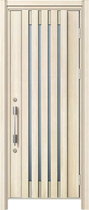 かんたんドアリモ 玄関ドア 断熱タイプ S15V ランマ無 片開き 外額縁77 AR 角型ストレート シルバー Aタイプ NO.1211