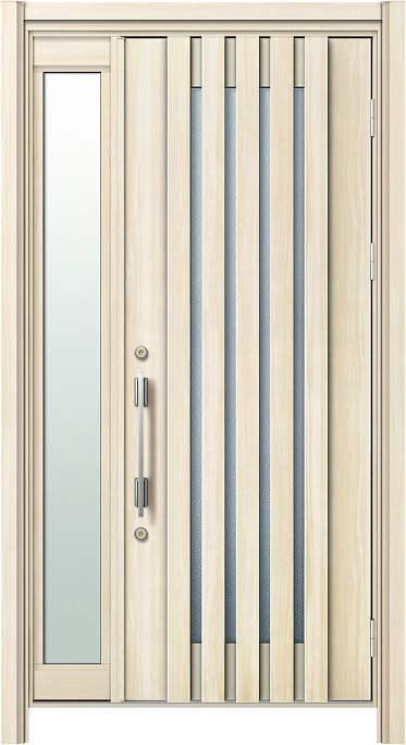 かんたんドアリモ 玄関ドア 断熱タイプ S15V ランマ無 片袖FIX 外額縁77 AR 角型ストレート シルバー Aタイプ NO.1241
