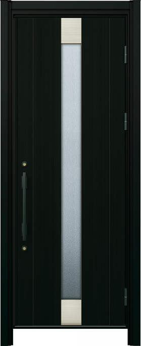 かんたんドアリモ玄関ドア アルミタイプ S06P ランマ無 片開き 外額縁77 B1 角型ストレート ブラック Cタイプ NO.1186