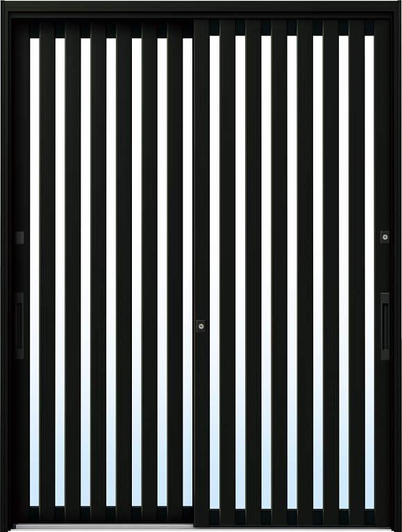 かんたんドアリモ 玄関引戸 伝統和風 A01 ランマ無 B1:ブラウン 舟底引手(ブラウン)複層・単板ガラス仕様 NO.1029