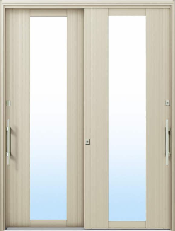 かんたんドアリモ 玄関引戸 洋風ベーシック B01 ランマ無 H2:プラチナステン 外側バーハンドル(シルバー)複層・単板ガラス仕様 NO.1025