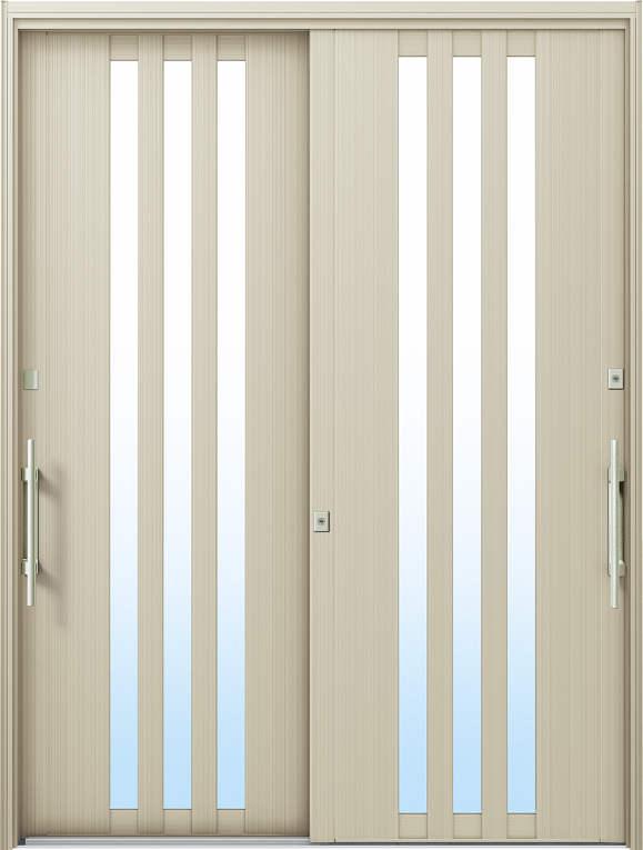 かんたんドアリモ 玄関引戸 洋風ベーシック B03 ランマ無 H2:プラチナステン 外側バーハンドル(シルバー)複層・単板ガラス仕様 NO.1028