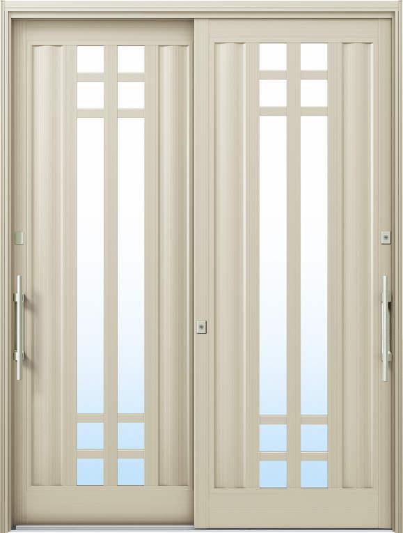 かんたんドアリモ 玄関引戸 洋風ベーシック B09 ランマ無 H2:プラチナステン 外側バーハンドル(シルバー)複層・単板ガラス仕様 NO.1030