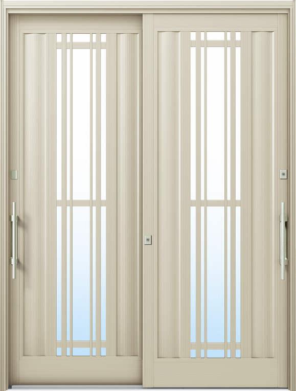 かんたんドアリモ 玄関引戸 洋風ベーシック B10 ランマ無 H2:プラチナステン 外側バーハンドル(シルバー)複層ガラス仕様 NO.1041