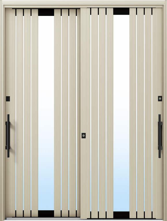 かんたんドアリモ 玄関引戸 現代和風 C05 ランマ無 H2:プラチナステン 外側バーハンドル(ブラック)複層ガラス仕様 NO.1057