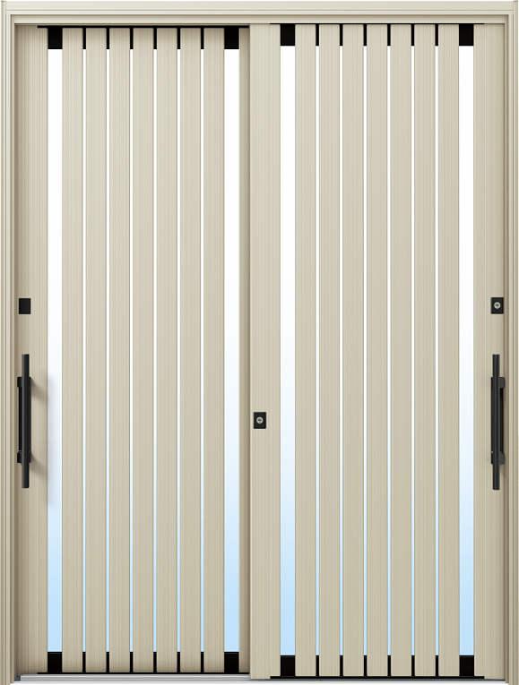 かんたんドアリモ 玄関引戸 現代和風 C06 ランマ無 H2:プラチナステン 外側バーハンドル(ブラック)複層ガラス仕様 NO.1058