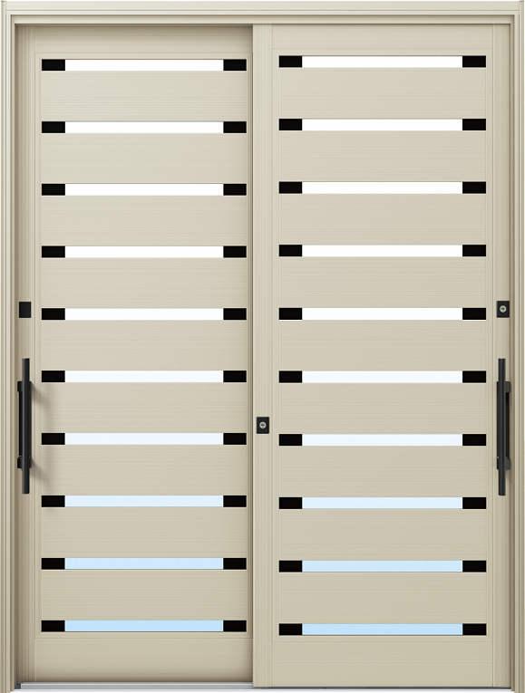 かんたんドアリモ 玄関引戸 現代和風 C08 ランマ無 H2:プラチナステン 外側バーハンドル(ブラック)複層・単板ガラス仕様 NO.1036