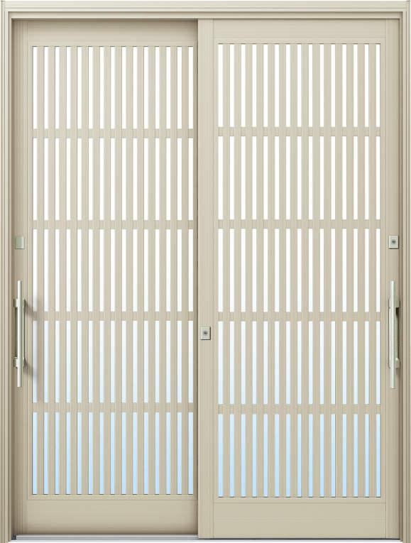 かんたんドアリモ 玄関引戸 現代和風 C10 ランマ無 H2:プラチナステン 外側バーハンドル(シルバー)複層・単板ガラス仕様 NO.1037