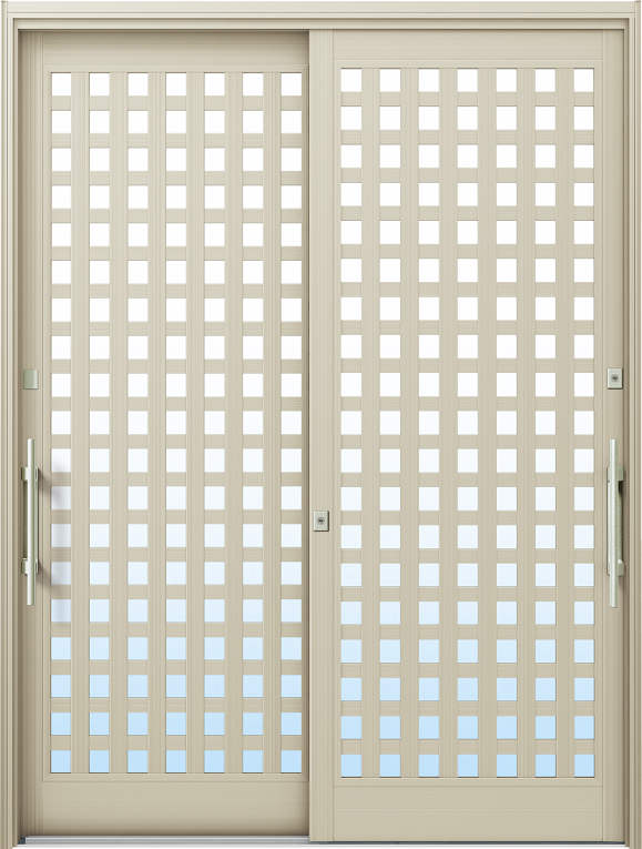 かんたんドアリモ 玄関引戸 現代和風 A11 ランマ無 H2:プラチナステン 外側バーハンドル(シルバー)複層・単板ガラス仕様 NO.1020