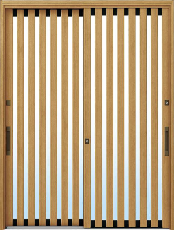 かんたんドアリモ 玄関引戸 伝統和風 A01 ランマ無 LG:ひのき 舟底引手(ブラウン)複層・単板ガラス仕様 NO.1053