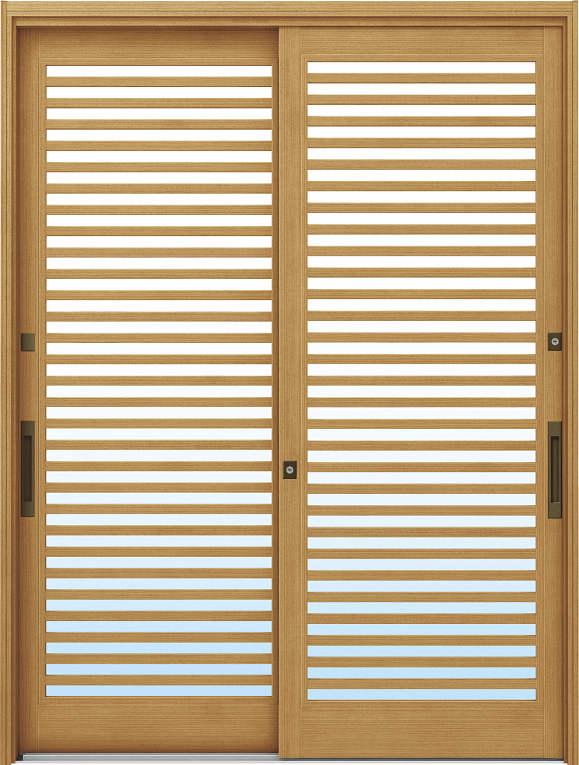 かんたんドアリモ 玄関引戸 伝統和風 A10 ランマ無 LG:ひのき 舟底引手(ブラウン)複層・単板ガラス仕様 NO.1005