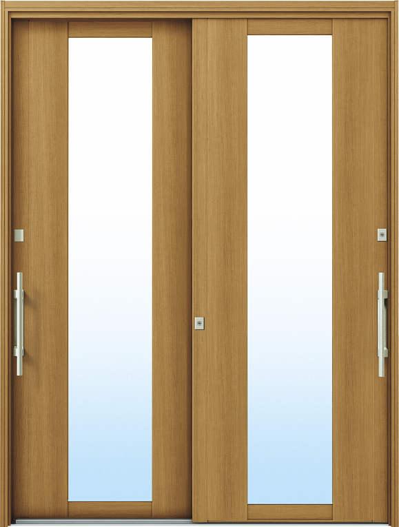 かんたんドアリモ 玄関引戸 洋風ベーシック B01 ランマ無 W7:ハニーチェリー 外側バーハンドル(シルバー)複層・単板ガラス仕様 NO.1049