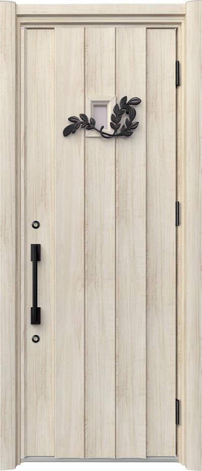 ノバリス リフォーム玄関ドア 断熱仕様 上部採光 ランマ無片開きドア C11 シルキーノーチェ(YN) ハンドル:ソリッドタイプ(ブラック) NO.2065