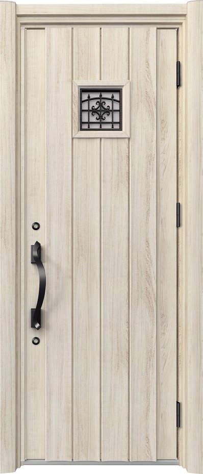 ノバリス リフォーム玄関ドア 断熱仕様 上部採光 ランマ無片開きドア C13 シルキーノーチェ(YN) ハンドル:洋風タイプ(ブラック) NO.2066