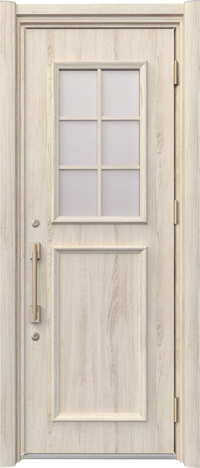 ノバリス リフォーム玄関ドア 断熱仕様 上部採光 ランマ無片開きドア C14 シルキーノーチェ(YN) ハンドル:ソリッドタイプ(ゴールド) NO.2052