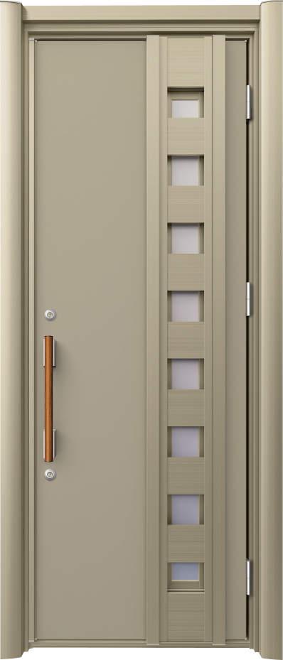 ノバリス リフォーム玄関ドア 断熱仕様 採風ドア ランマ無片開きドア H12 シャンパングレイ(UC) ハンドル:木目調バー NO.2058