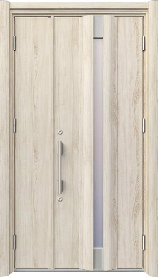 ノバリス リフォーム玄関ドア 断熱仕様 スリット採光 ランマ無親子ドア A26 シルキーノーチェ(YN) ハンドル:バータイプ(シルバー) NO.2033