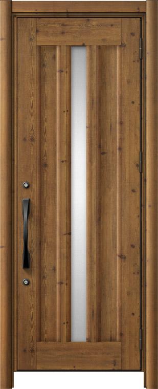 リシェントⅡ玄関ドアアルミ仕様(単品)C12 片開き アイリッシュパイン NO.93