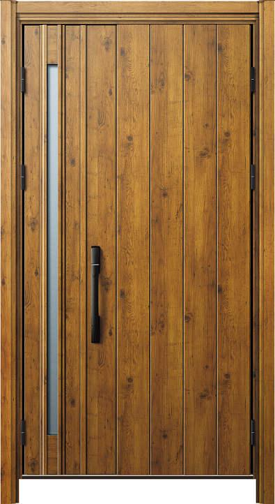 簡単ドアリモ玄関ドア 断熱タイプ N08 親子 外額縁80 ピタットKey ストレート ブラック