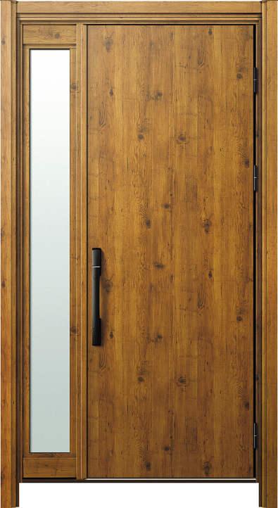 簡単ドアリモ玄関ドア 断熱タイプ C10 片袖FIX 外額縁80 ピタットKeyストレート ブラック