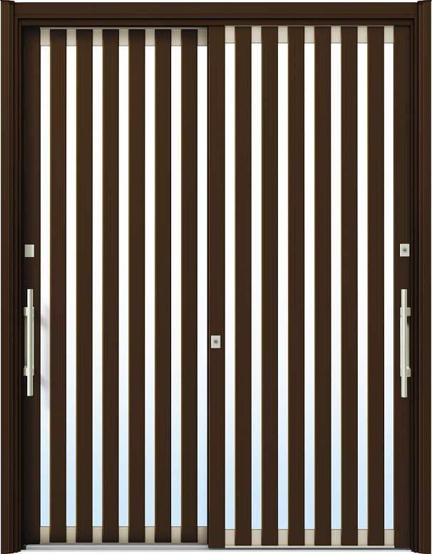 簡単ドアリモ玄関引戸 現代和風 C01 複層/単板ガラス仕様 6尺2枚建 ランマ無