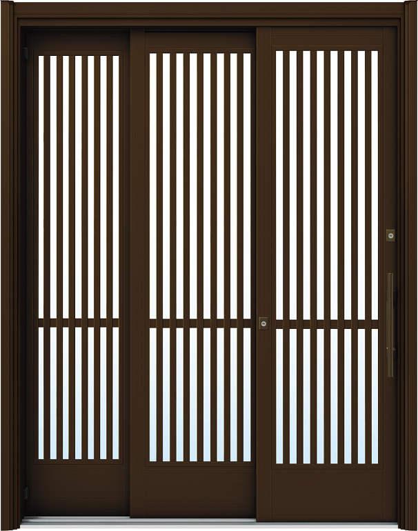 簡単ドアリモ玄関引戸 袖付2枚運動引込み戸 Y04 複層/単板ガラス仕様 6尺 ランマ無