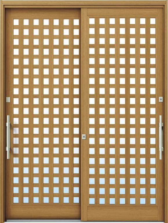 簡単ドアリモ玄関引戸 現代和風 A11 複層/単板ガラス仕様 6尺2枚建 ランマ無