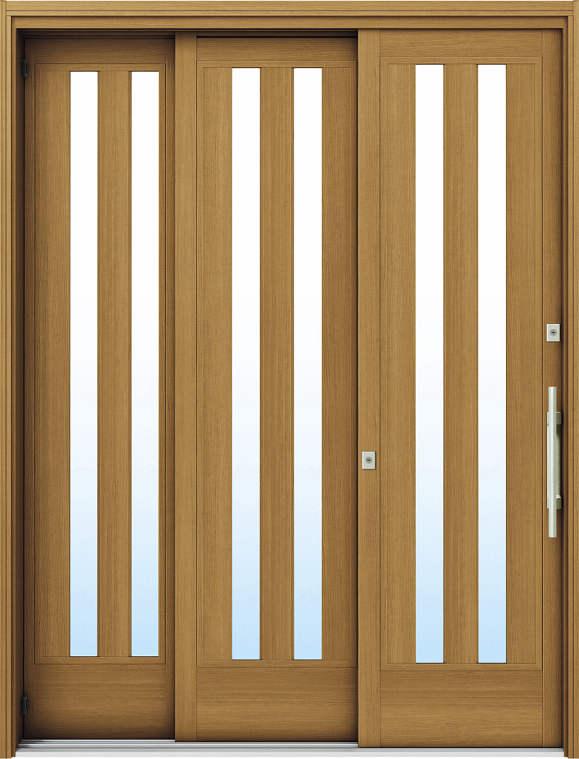 簡単ドアリモ玄関引戸 袖付2枚運動引込み戸 Y01 複層/単板ガラス仕様 6尺 ランマ無