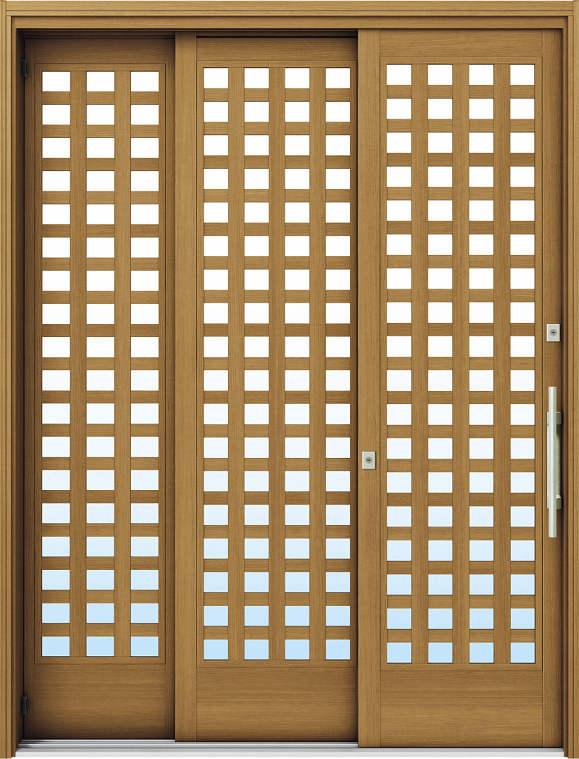 簡単ドアリモ玄関引戸 袖付2枚運動引込み戸 Y03 複層/単板ガラス仕様 6尺 ランマ無