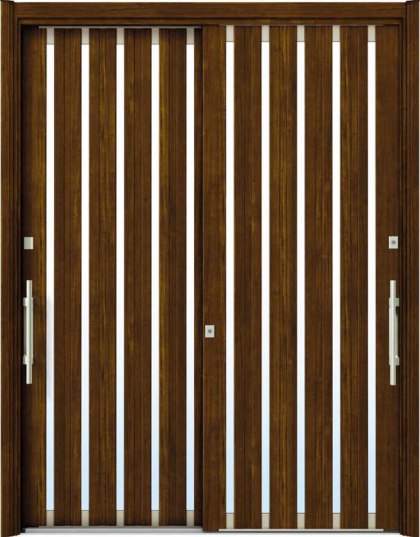 簡単ドアリモ玄関引戸 現代和風 C03 複層/単板ガラス仕様 6尺2枚建 ランマ無