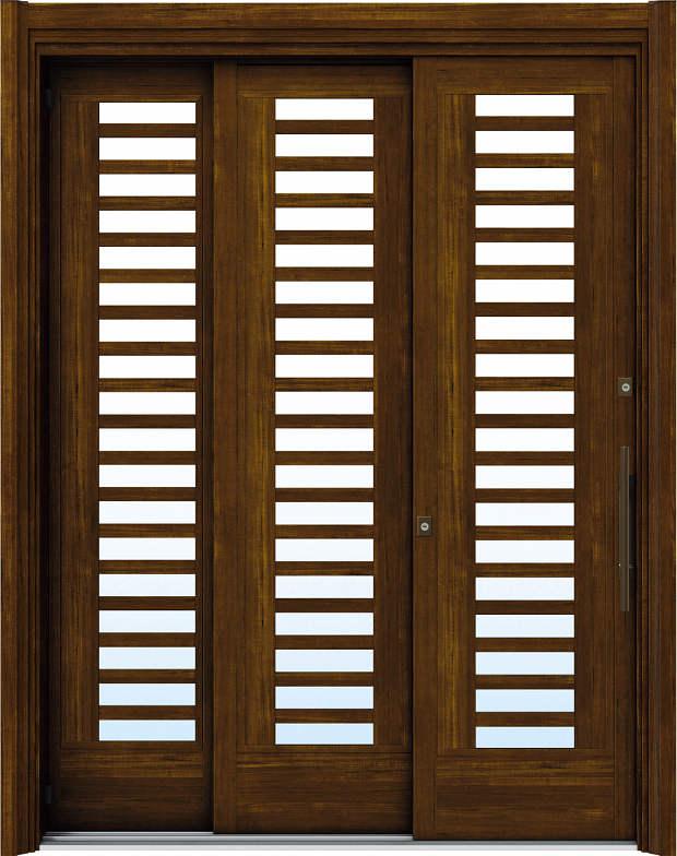 簡単ドアリモ玄関引戸 袖付2枚連動引込み戸 Y02 複層/単板ガラス仕様 6尺 ランマ無